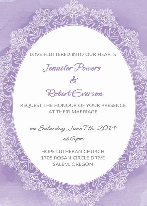 Affordable Lace Printed Lavender Watercolor Wedding Invitations 2 - best of wedding invitation card sample design