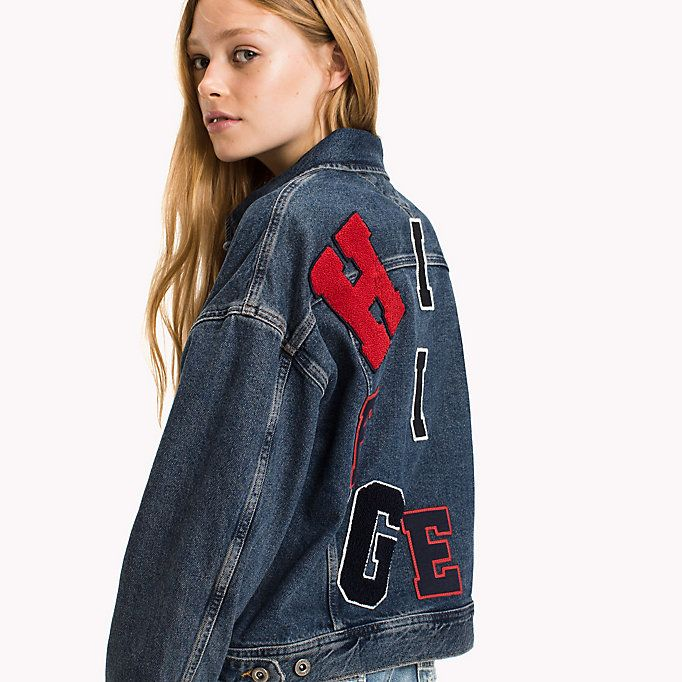 05e680a2c7 HILFIGER DENIM Denim Trucker Jacket - VARSITY DENIM BLUE - HILFIGER DENIM  Jackets - main image