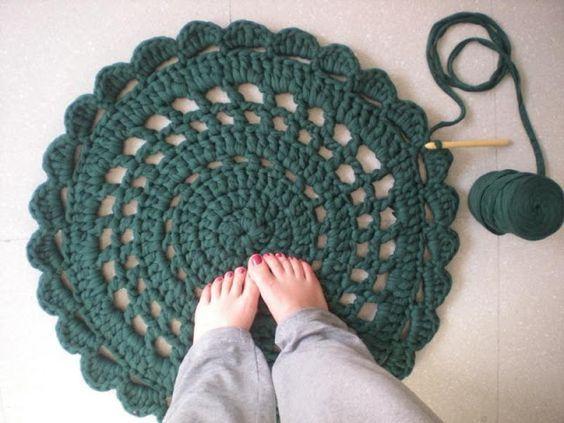 meine Welt der Wolle: Tutorial, wie man einen Teppich mit trapillo machen