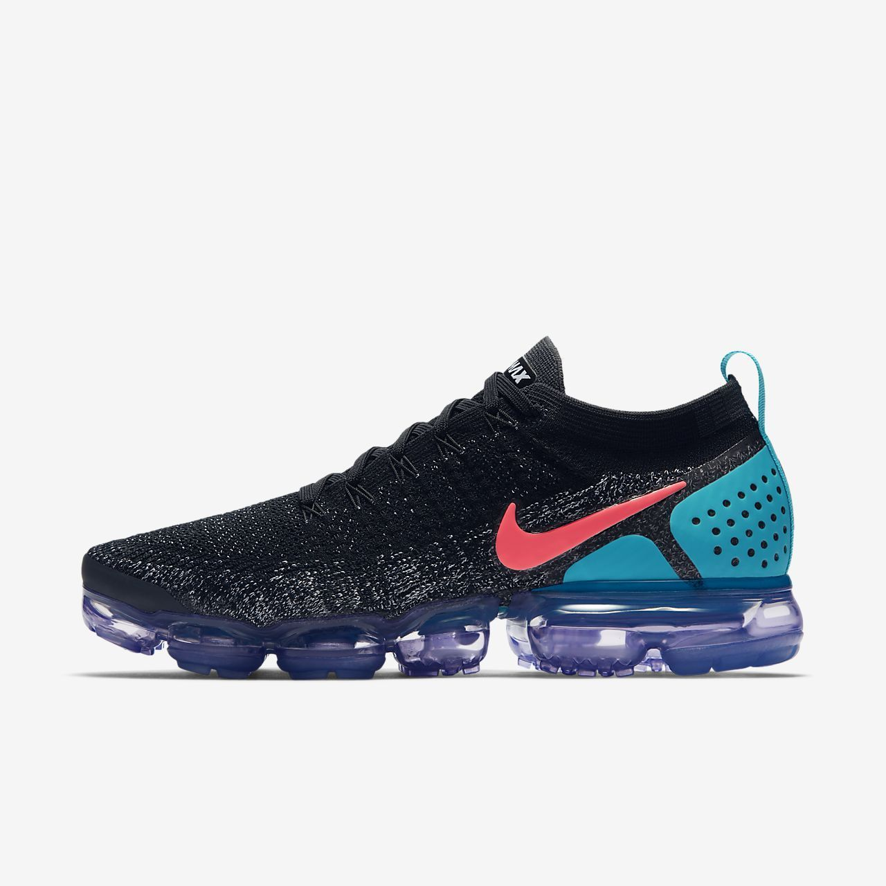 b361bfe5a6a32 Mens Nike Air VaporMax Flyknit 2 Running Shoe Black White Dusty Cactus Hot  Punch Style  942842-003
