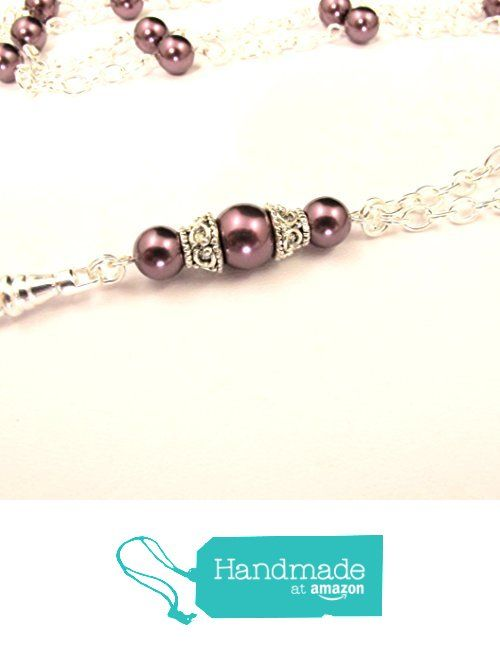 Women's Fashion ID Badge Lanyard with- Simply Beautiful Pearls and Silver Chain…
