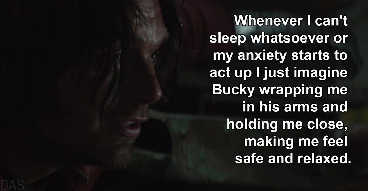 I do the same thing and I always feel better afterwards | Bucky