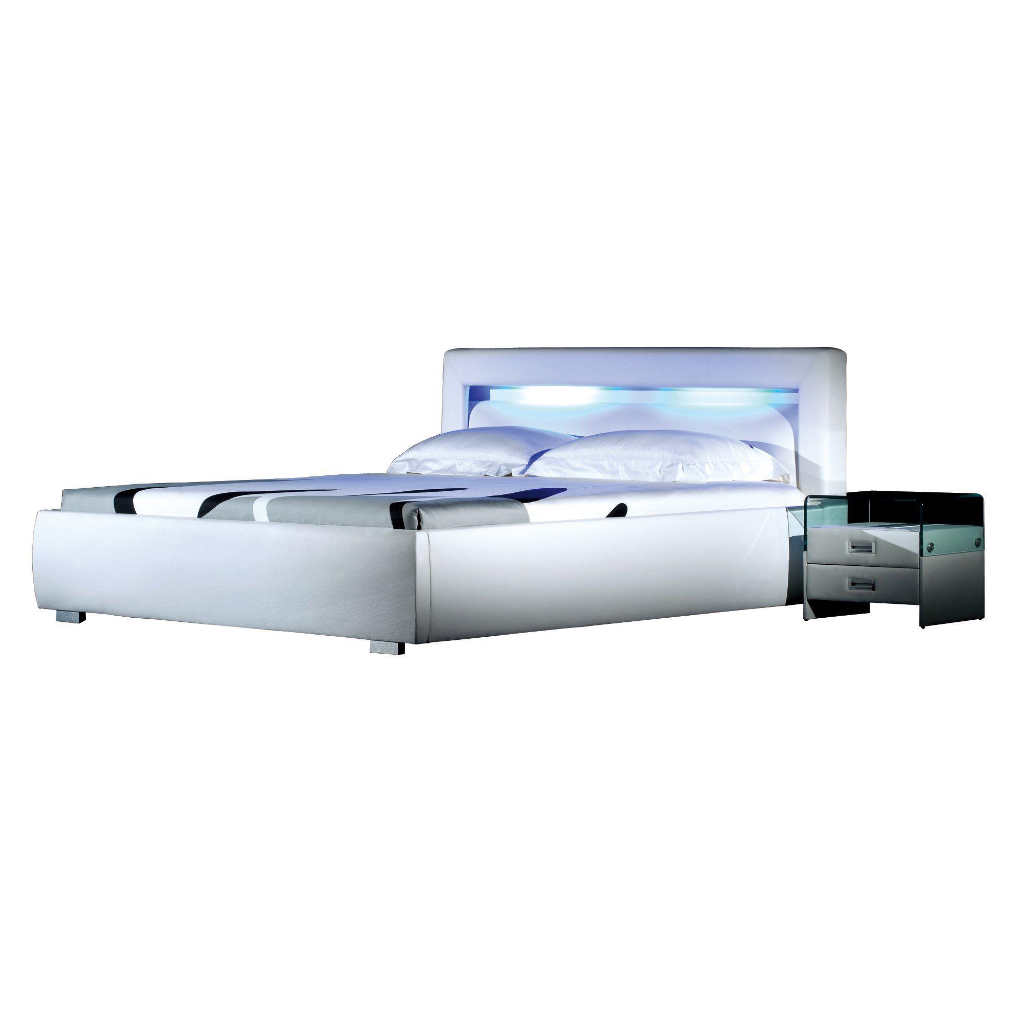 Xxs M Bel Bett 180 X 200 Design Lumina Wei Integrierte Led Beleuchtung Wasserbett In 2020 Led Led Beleuchtung Wasserbett