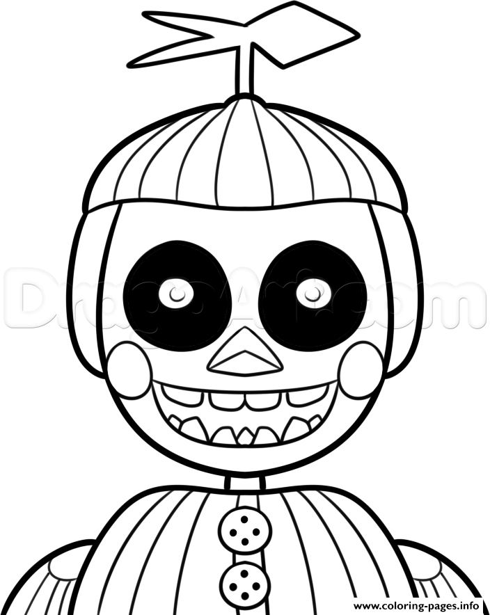 Print Phantom Balloon Boy Phantom Five Nights At Freddys Fnaf Coloring Pages