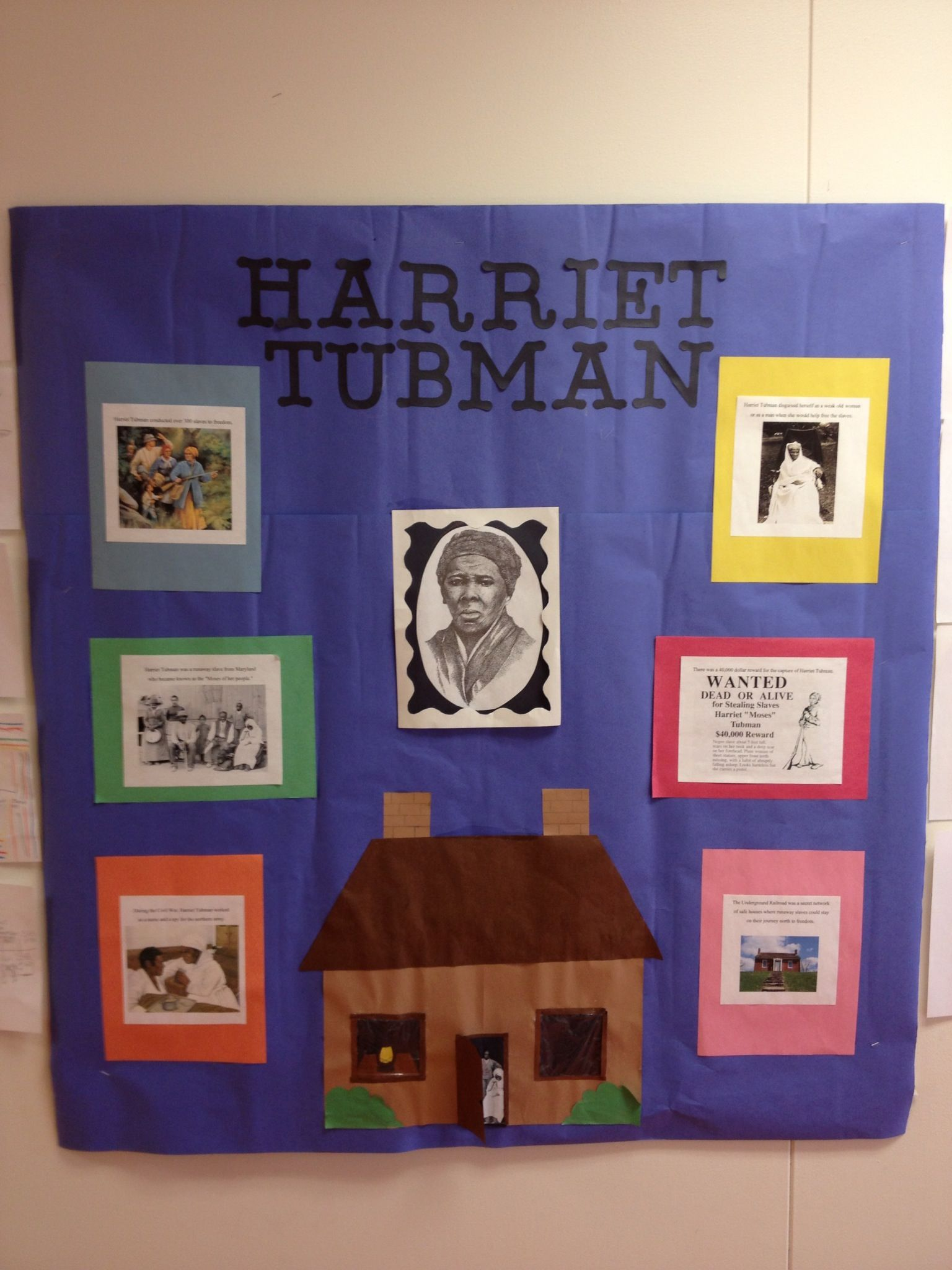 Harriet Tubman bulletin board!!   First grade projects [ 2048 x 1536 Pixel ]