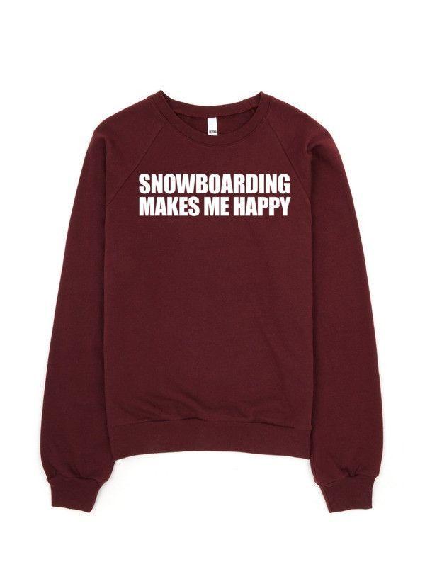 Snowboarding Makes Me Happy