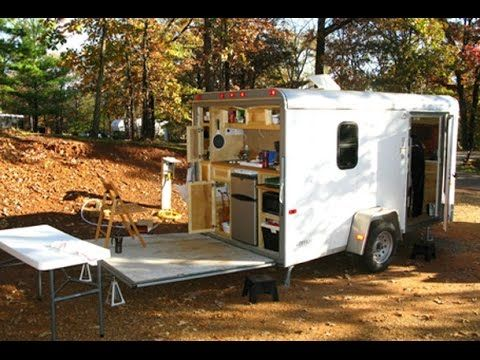 Cargo Trailer Campers Youtube Enclosed Trailer Camper Cargo Trailer Camper Conversion Cargo Trailer Camper