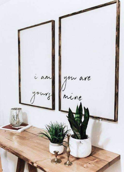 Photo of I Am Yours You Are Mine Wooden Sign