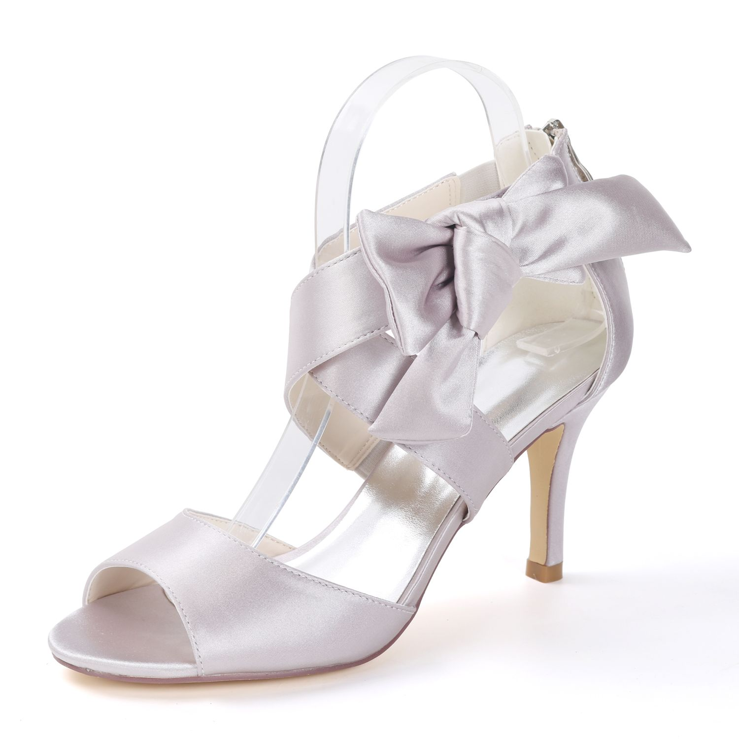 Inches Heel Satin Dress Sandals With Sweet On Ankle Severdal Colors Available