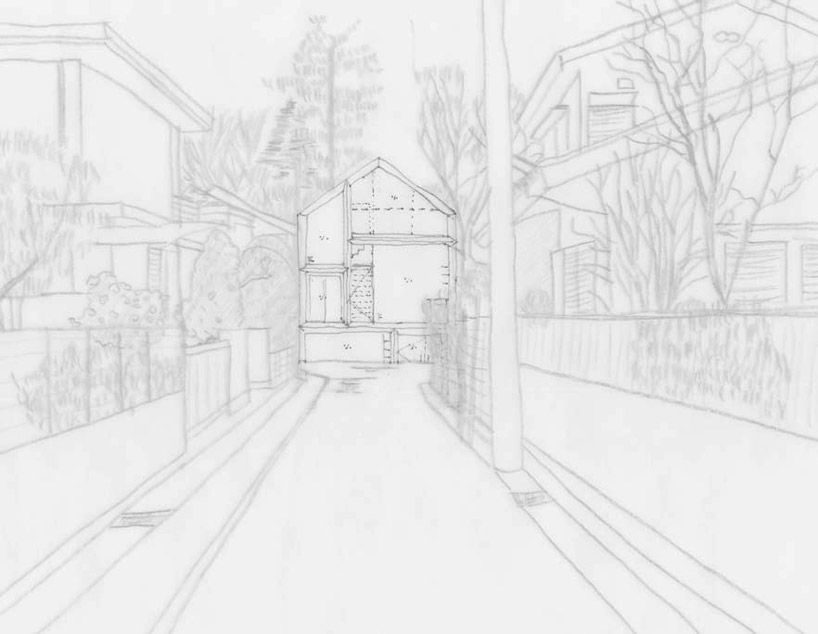 concept sketch  japanese studio ON design partners has recently finished the private residence titled 'what categorizes the city and me' in chofu, tokyo