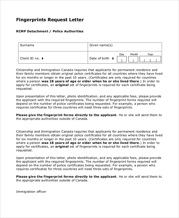 Request Letters 11+ Free Printable MS Word & PDF Samples
