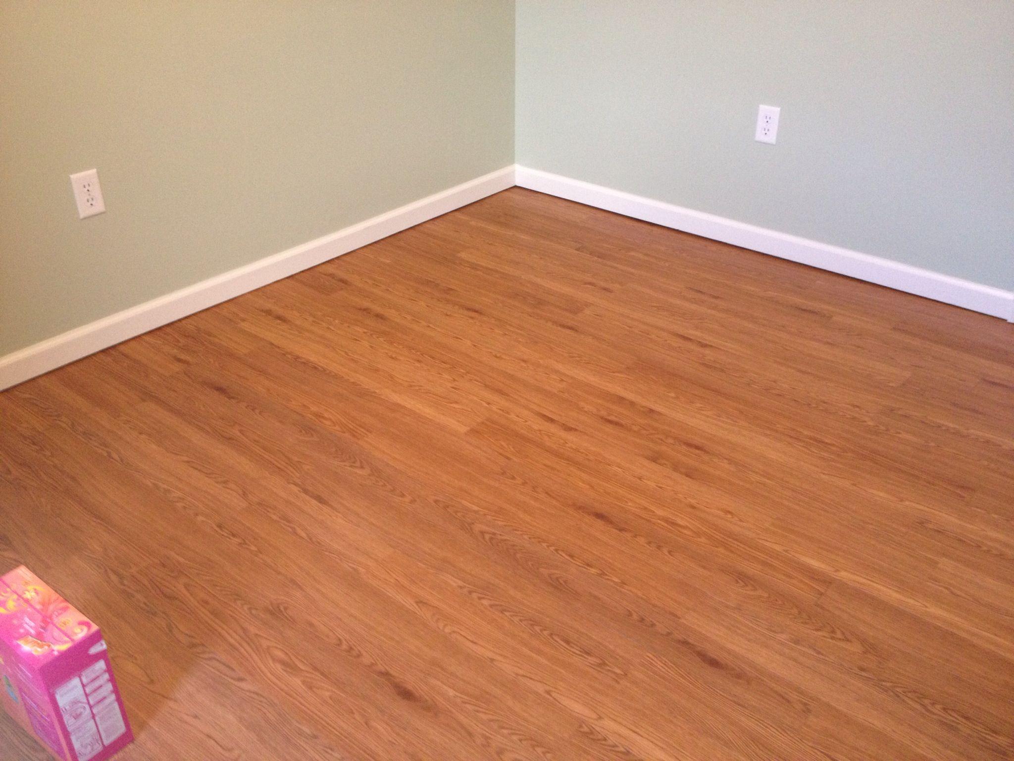 Vinyl plank flooring Looks and feels like real wood Super easy to