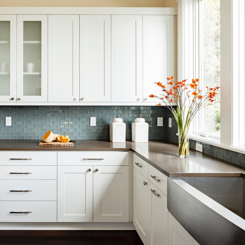 Shaker Kitchen Cabinet Plans: Shaker-style Cabinets And A Concrete Farmhouse Sink Strike