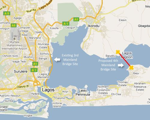 Lagos City Map Google Render Of State Showing The