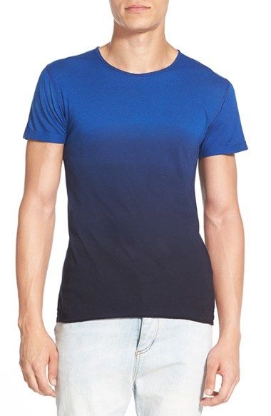 Free shipping and returns on Alexander Simai Elongated Two Color Dip Dye T-Shirt at Nordstrom.com. A dip-dyed treatment creates a stylish ombré on a soft, stretchy preshrunk cotton and modal-blend T-shirt framed by raw edges and cut extra-long in the body.