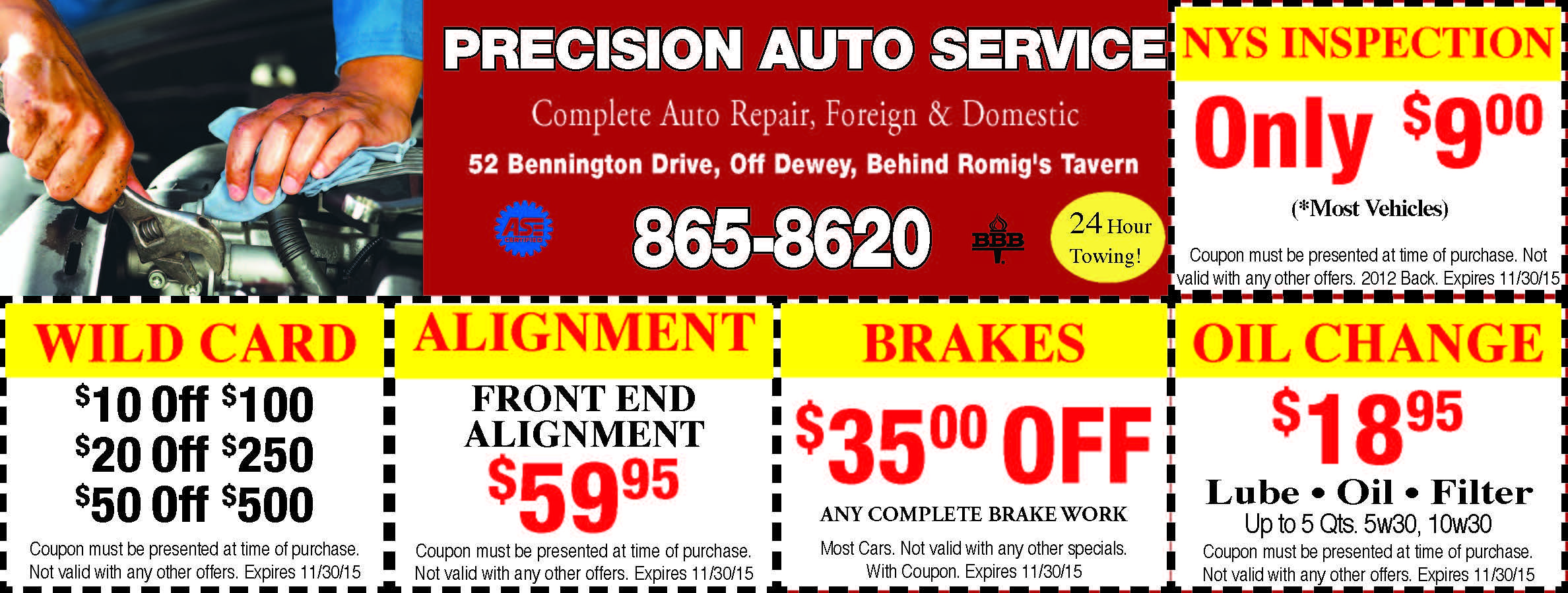 Front End Alignment Coupons >> Precision Auto Service For Savings On Brakes Front End Car