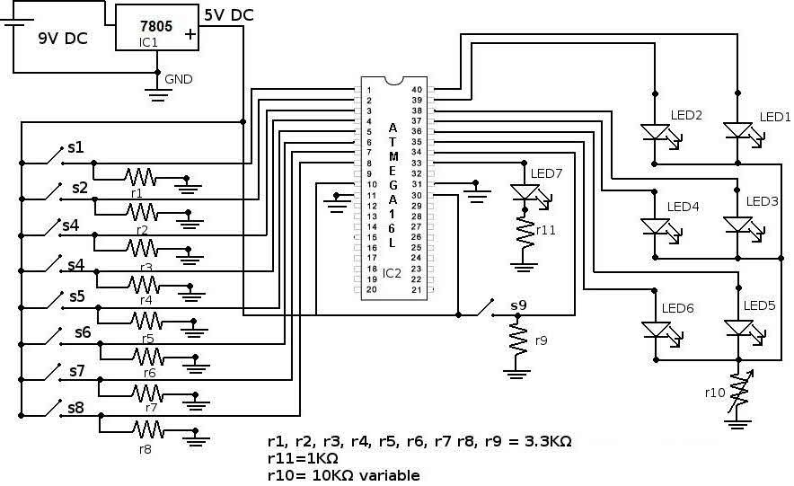 Boolean Algebra Calculator Circuit with Applications