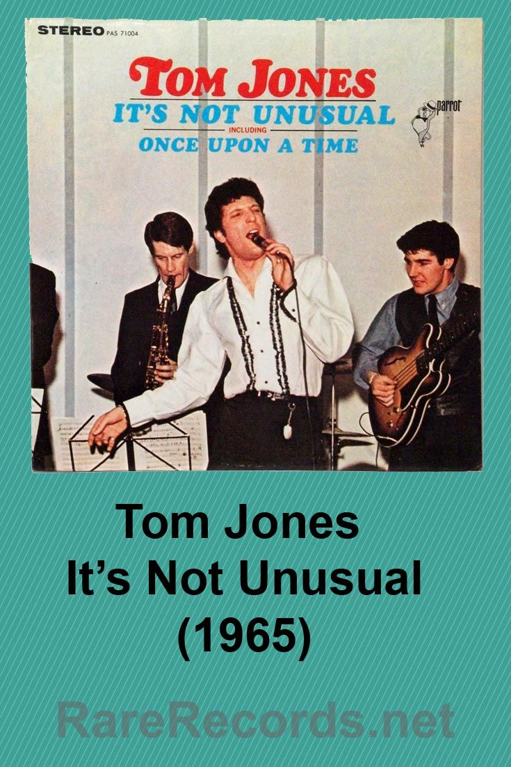 Tom Jones It S Not Unusual 1965 Rare Original Cover For The U S Pressing It Was Later Replaced With A Cover Showing Classic Album Covers R B Albums R B