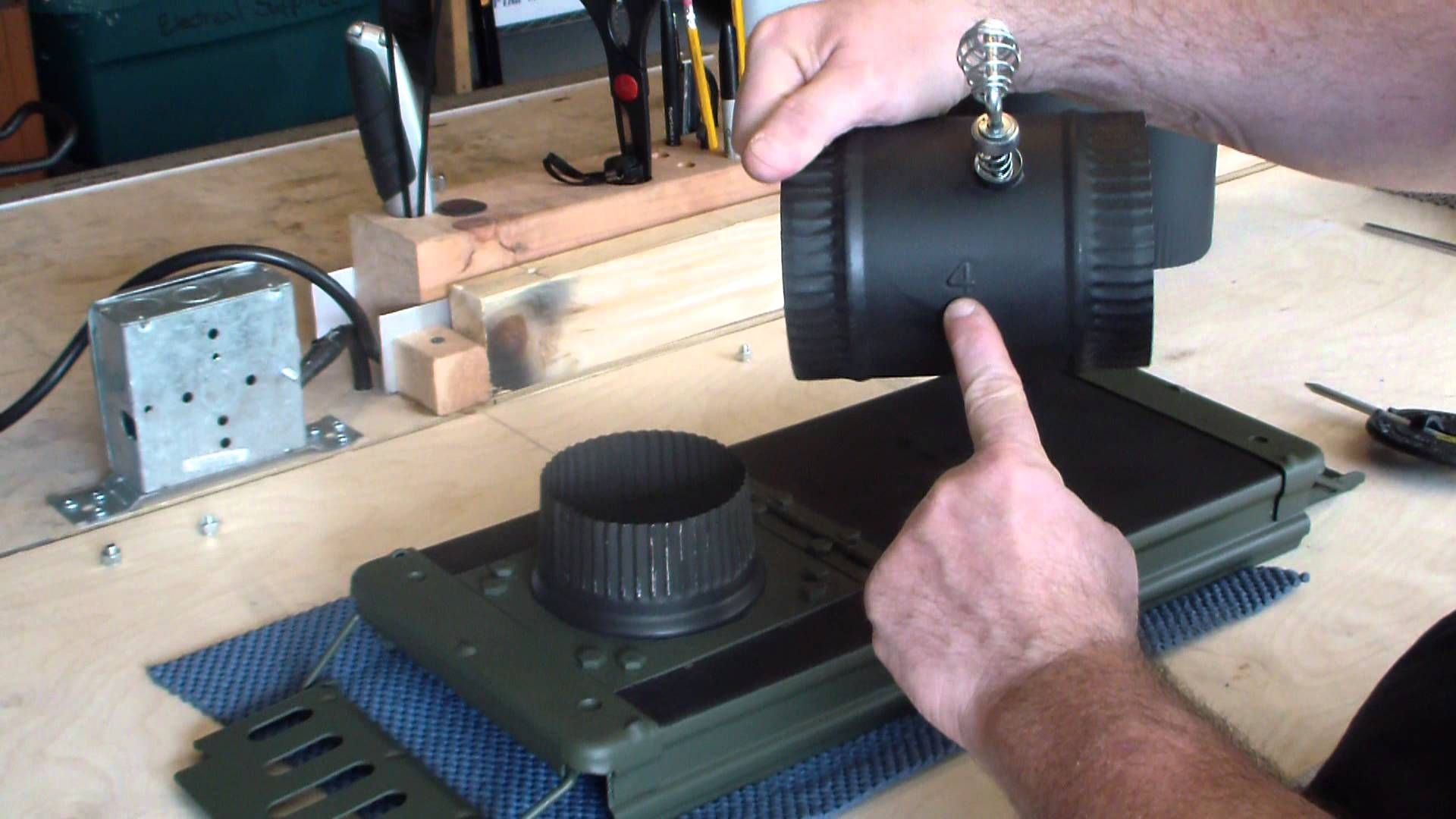 How to build a tent stove with a 20MM Ammo can | Rendezvous ...