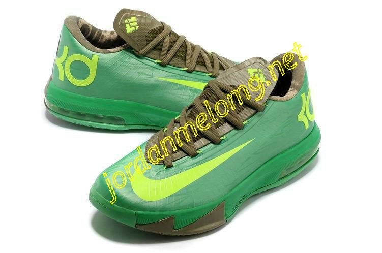 55ff94f9ec13 Nike KD VI Bamboo Apple Green Brown Bronze Tongue 599424 301 ...