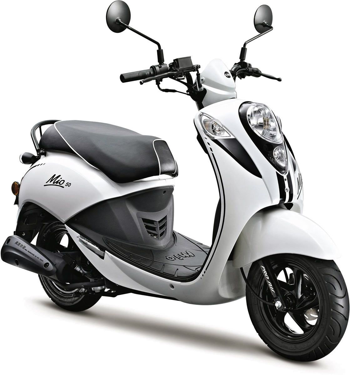 sym mio 50 le scooter r tro voit en noir et blanc news scooter 50cc and scooters. Black Bedroom Furniture Sets. Home Design Ideas