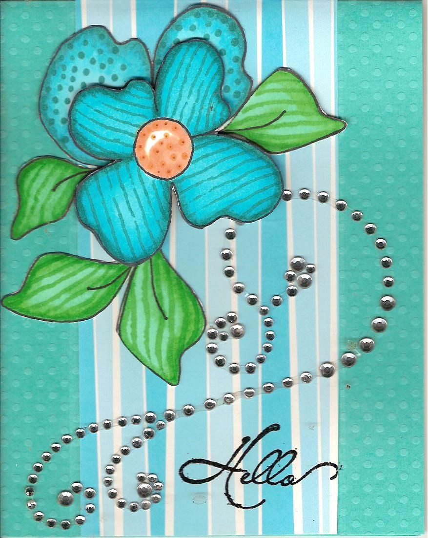 blue flower zentangle