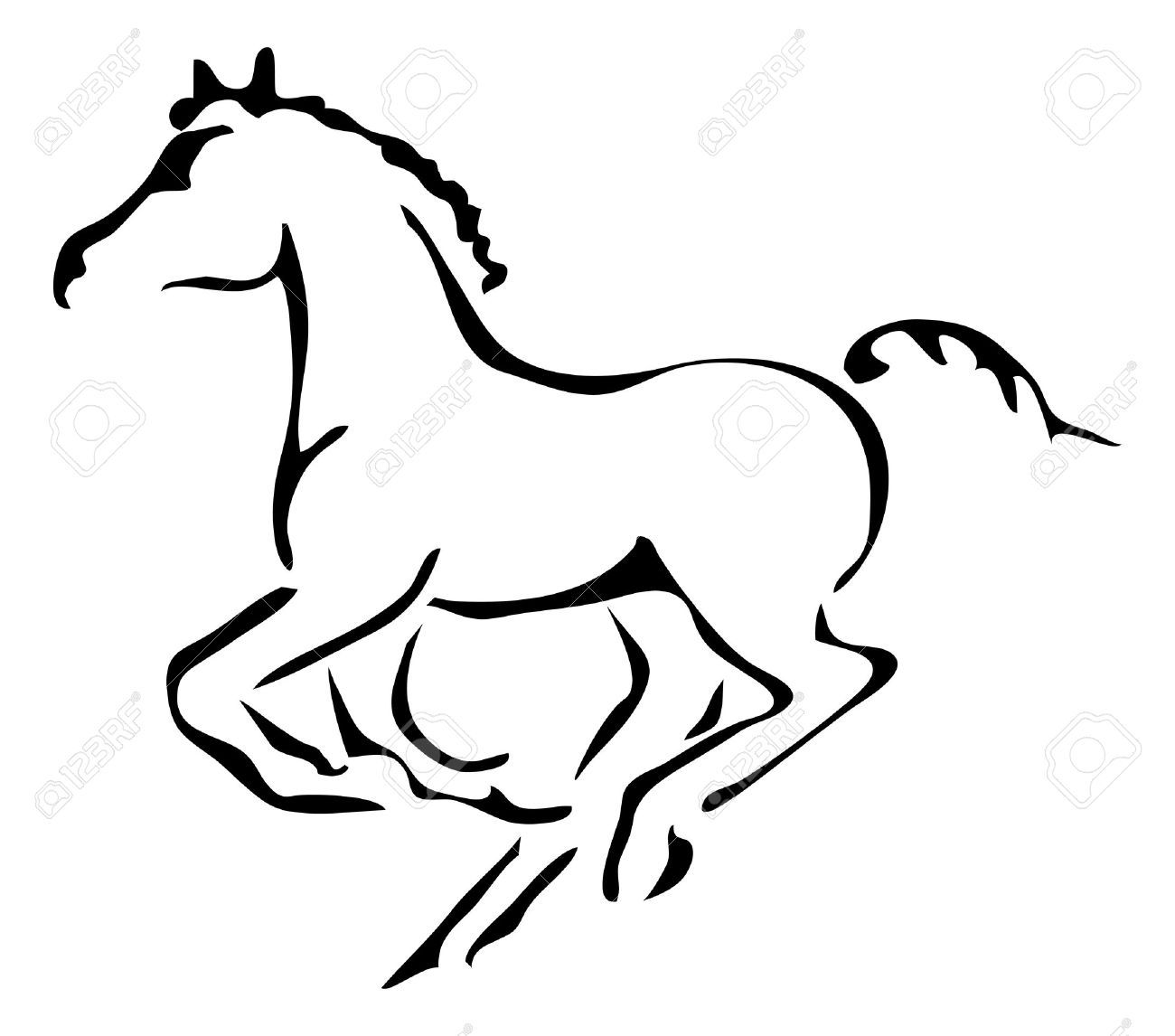 25+ Foal Clipart Black And White