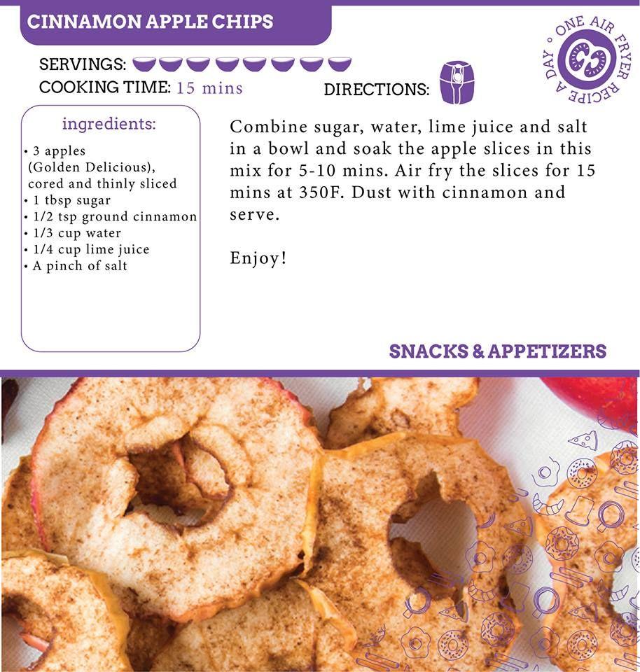 Pin by Lana Hatley on Recipes Air Fry Cinnamon apple