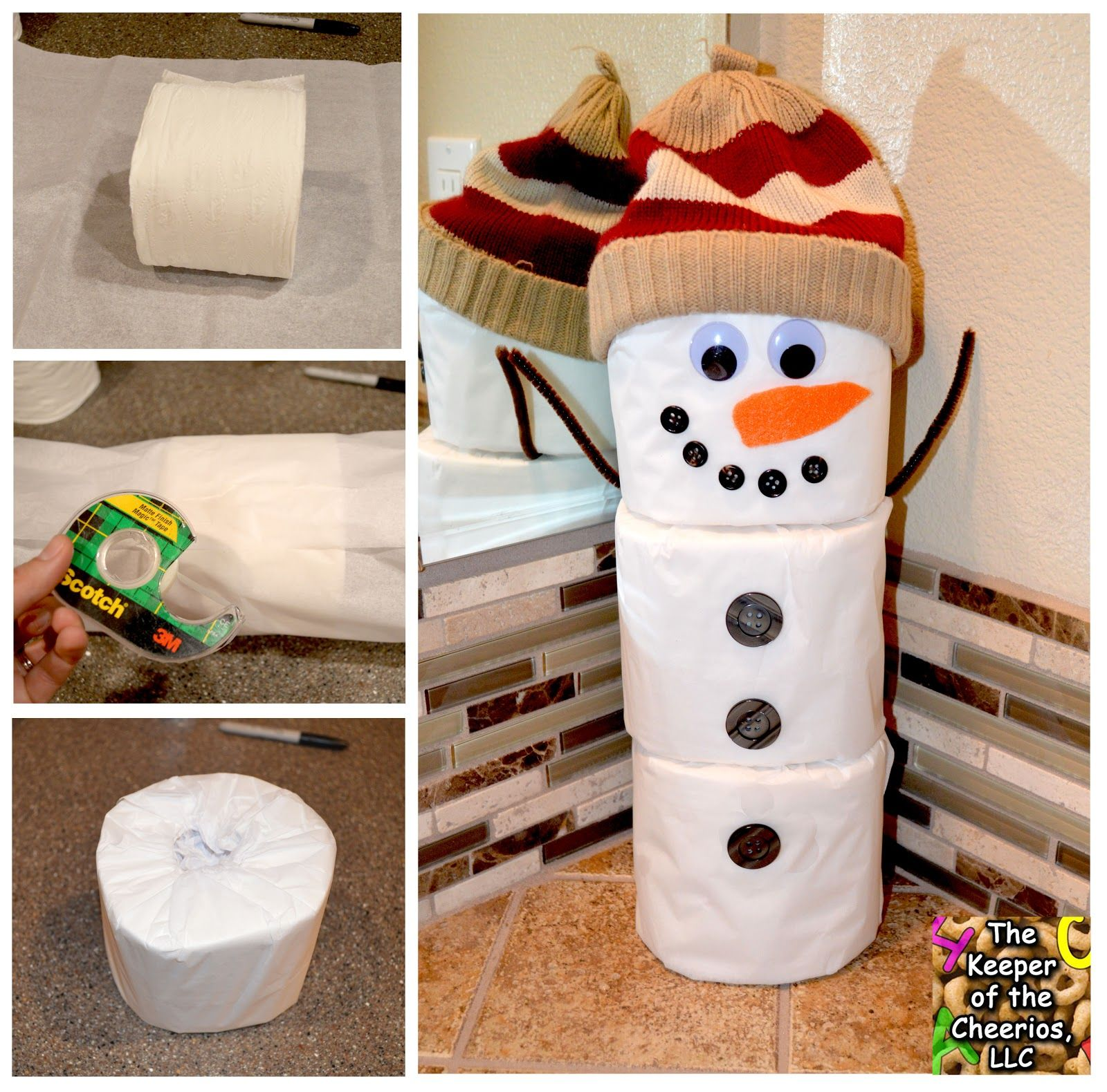 The Keeper of the Cheerios Toilet Paper Snowman Craft