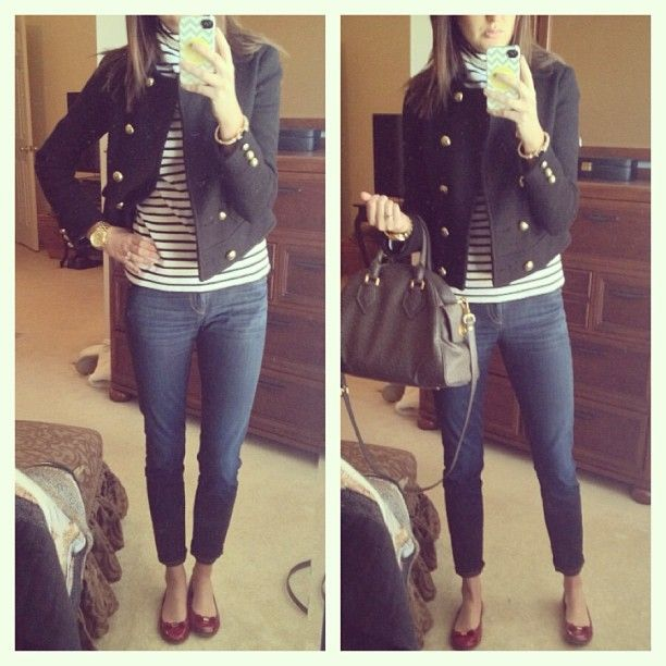 love the jacket w/stripes