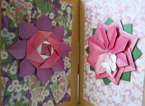 Origami cardhandmade card setsrthday cardsthers day cards items similar to handmade spring cardt of 2 cardsthers day cardrthday cardeeting cardsper flowerorigami cardsorigami spring bookmarktalkfo Image collections