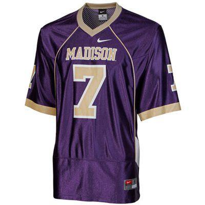 new concept 065f0 8483c Nike James Madison Dukes #7 Replica Football Jersey - Purple ...
