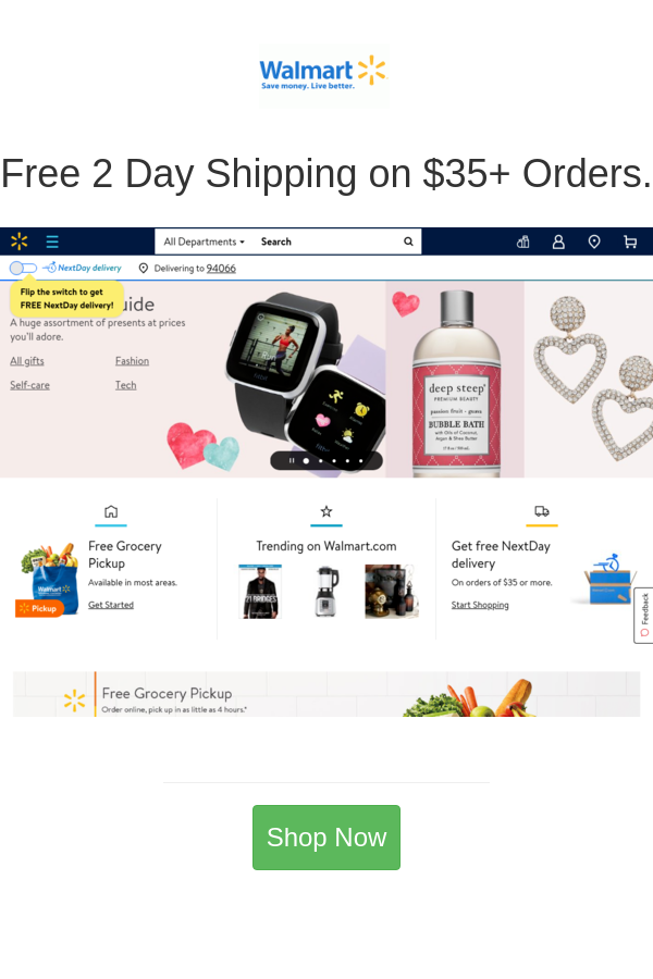 Free 2 Day Shipping On 35 Orders In 2020 Walmart Deals