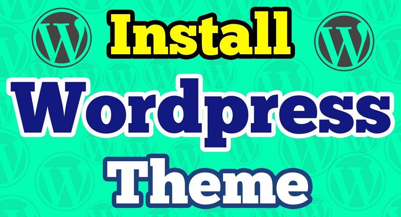 Install Wordpress Theme On Live Website On Localhost Wordpress Theme Wordpress Theme
