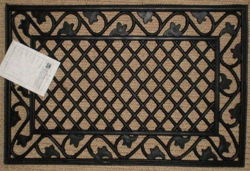 Leaf Border Cast Iron Vulcanized Rubber Rectangle Outdoor Mat 18x30 By Iron Gate Classic Styling And Ultra Strong Construction Outdoor Mat Door Mat Iron Gate