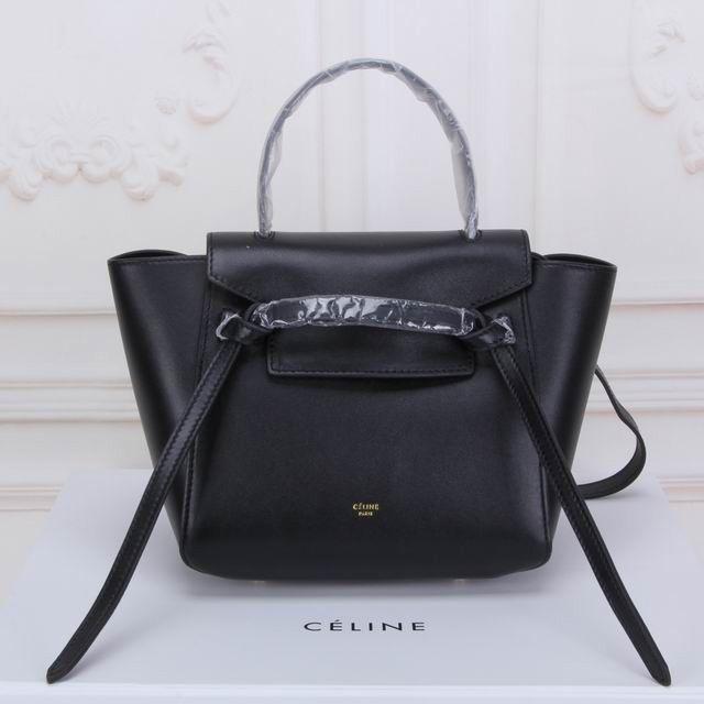 faaf7008243b Celine Small Ring Bag In Black Smooth Calfskin  Celine Ring Bag 39  -   330.00   Celie Bag Online !