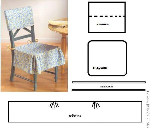 Como hacer cubresillas con moldes05 Jupe de chaises | Tabliers,Sacs ...