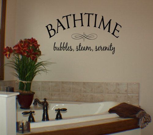Wall Decal Quote Bathroom Words Lettering Vinyl Wall Sticker Home Decor  DP444