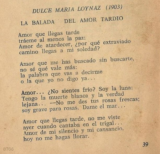 Poema La Balada Del Amor Tardío Citas Frases Paciencia