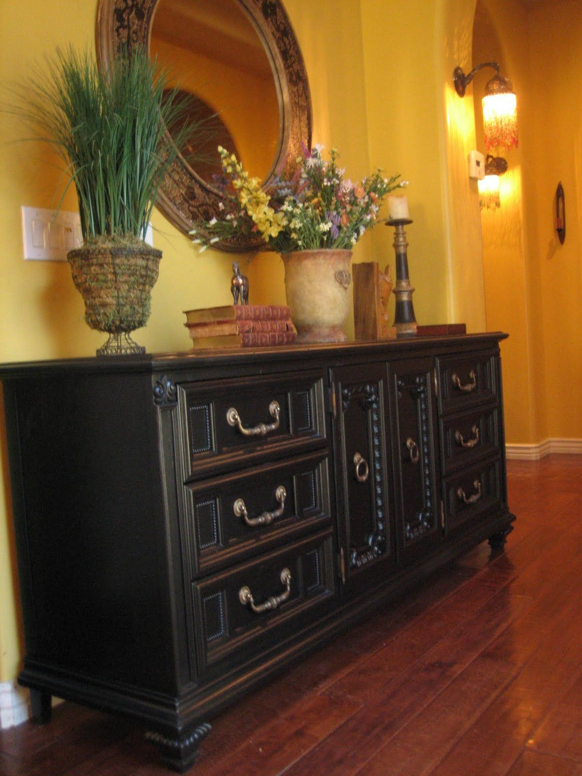 Ornate Bedroom Furniture. European Paint Finishes: ~ Black Ornate Dresser ·  Refurbished Furniturefurniture Makeoverbedroom