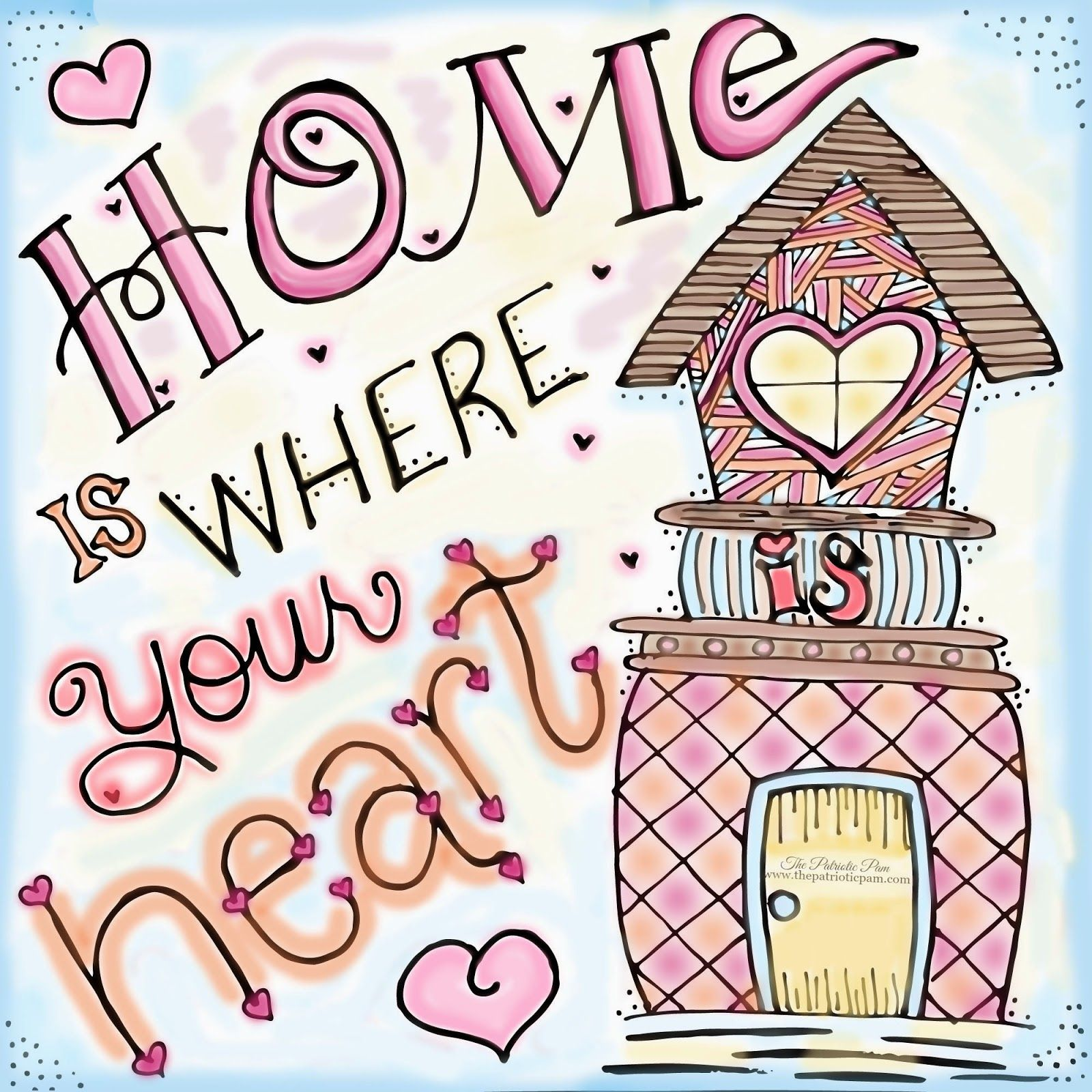 Home is Where your Heart Is! #handlettered #drawing