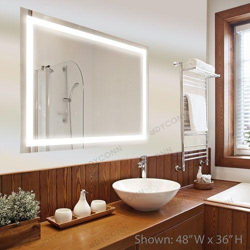 Edison 48x36 Horizontal/Vertical Wall Mounted Backlit Vanity - led leiste badezimmer