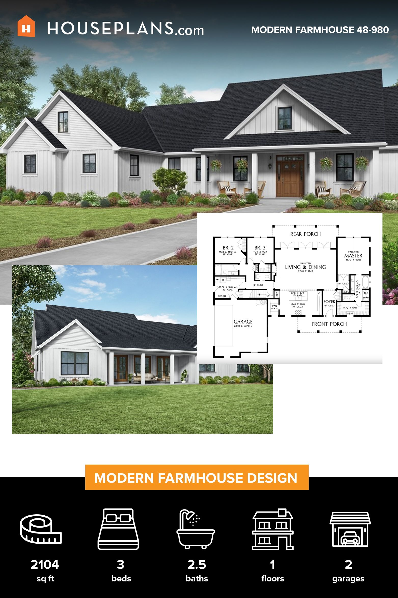 Pin On Modern Farmhouse Plans