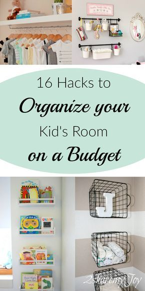 Having a clean house does not mean spending lots of money. with these hacks you can organize your home on a budget. DIY Nursery and kid's rooms DIY ideas.