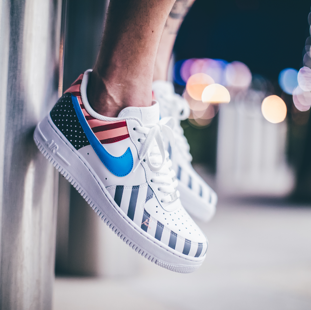 Custom Parra x Nike Air Force 1 Low WhiteMulti color | Nike