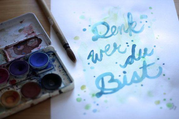 Quote Art Zitat Kunst Handlettering Hand Schriftzug by Sashira