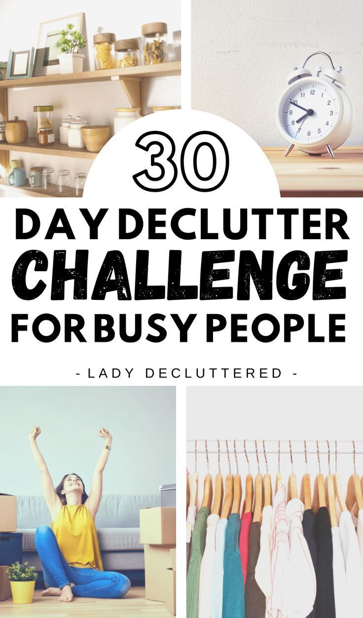 30 Day Declutter Challenge for Busy People » LADY DECLUTTERED