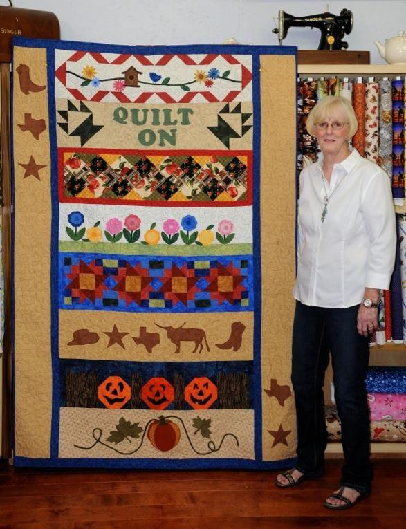 Brenda J. turned her quilt into Little Cottage Quilt Shop in ... : quilt shop texas - Adamdwight.com