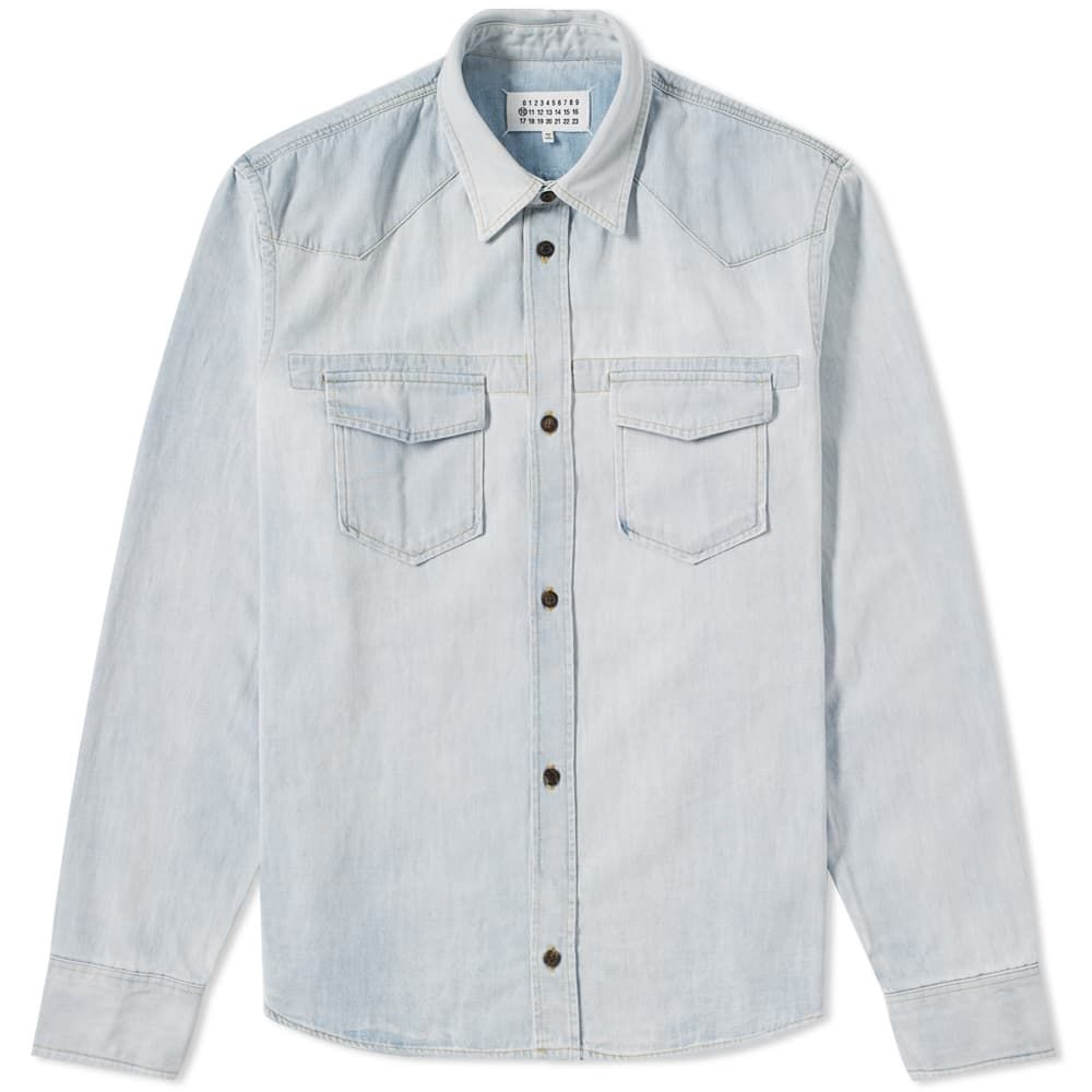 Overshirt Blue Heavyweight Denim Maison Margiela 10 xwHqB1RaI