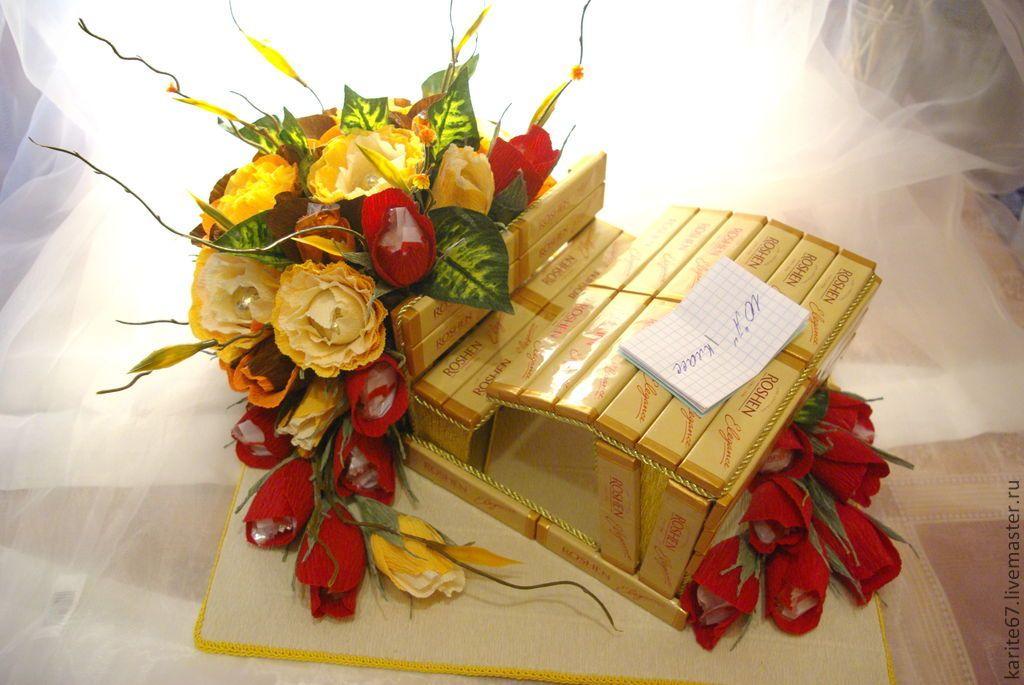 Букет невесты, школьный букет из конфет